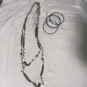 Express necklace and bangles.